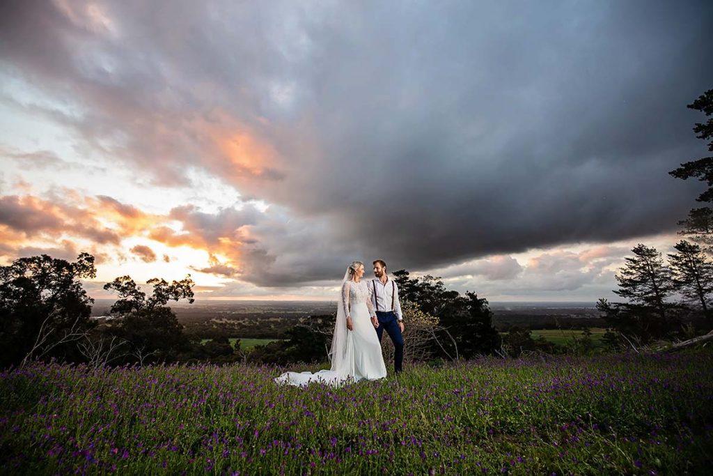 Stunning Sunset at Quarry Farm Wedding