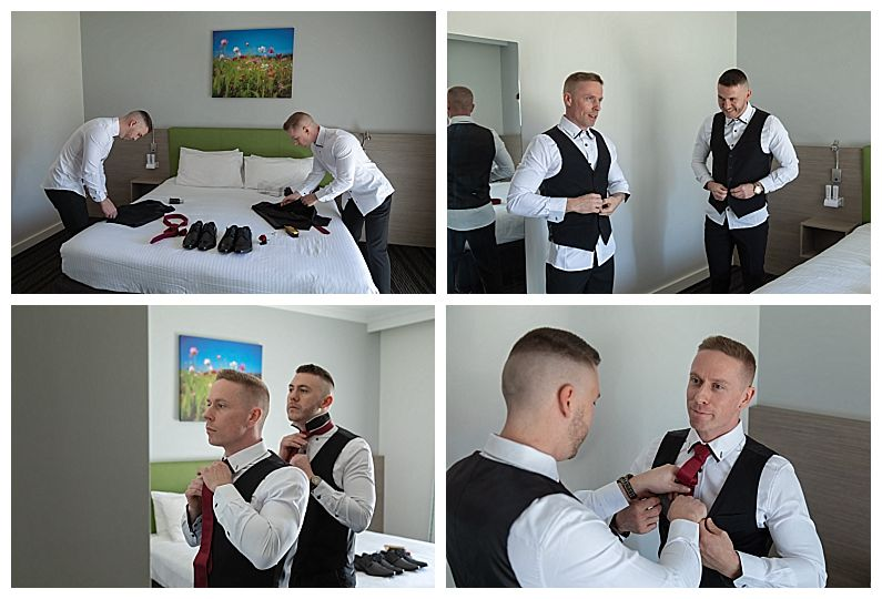 The Vines Resort - Grooms Preparations
