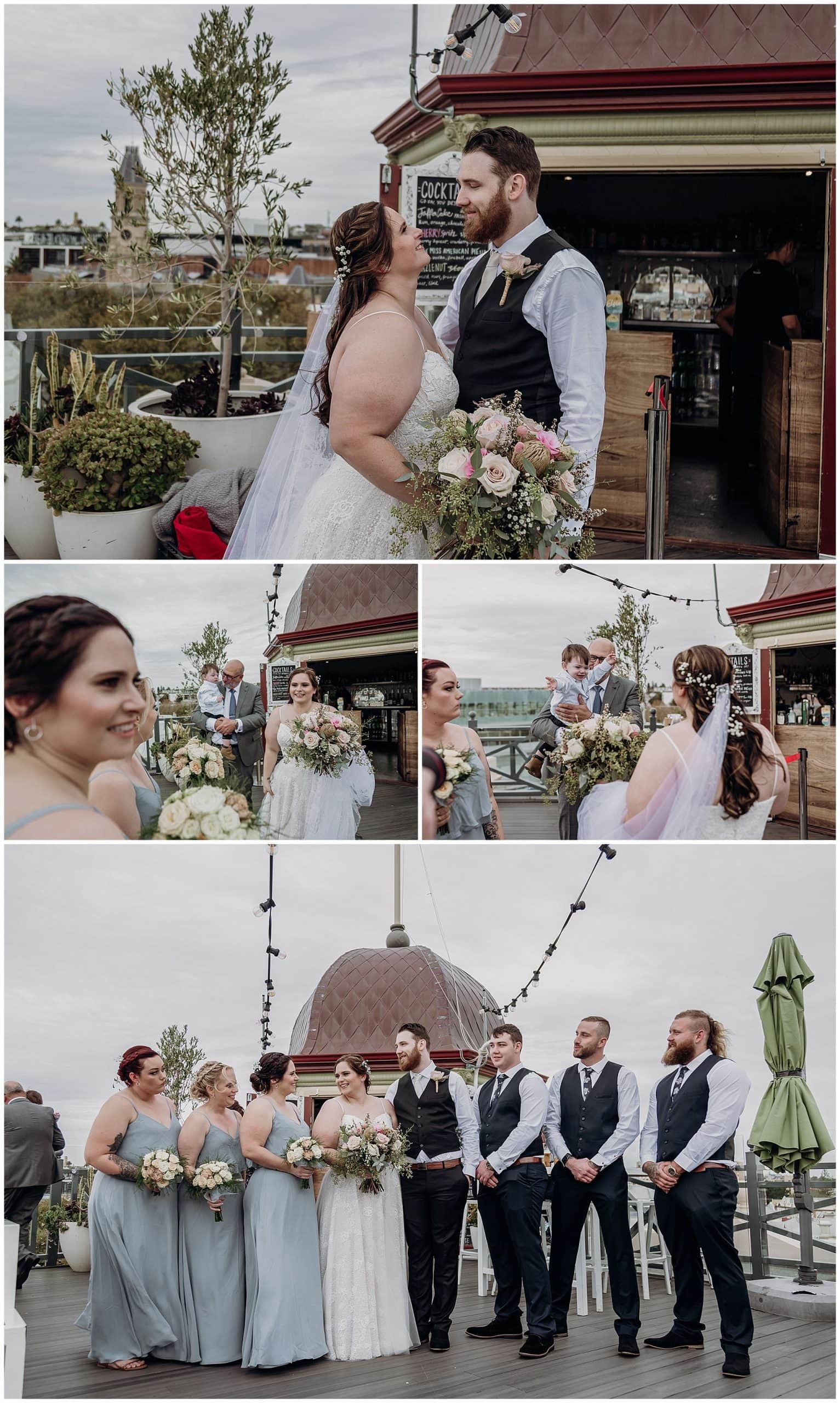First look Bride and Groom The National Hotel Fremantle
