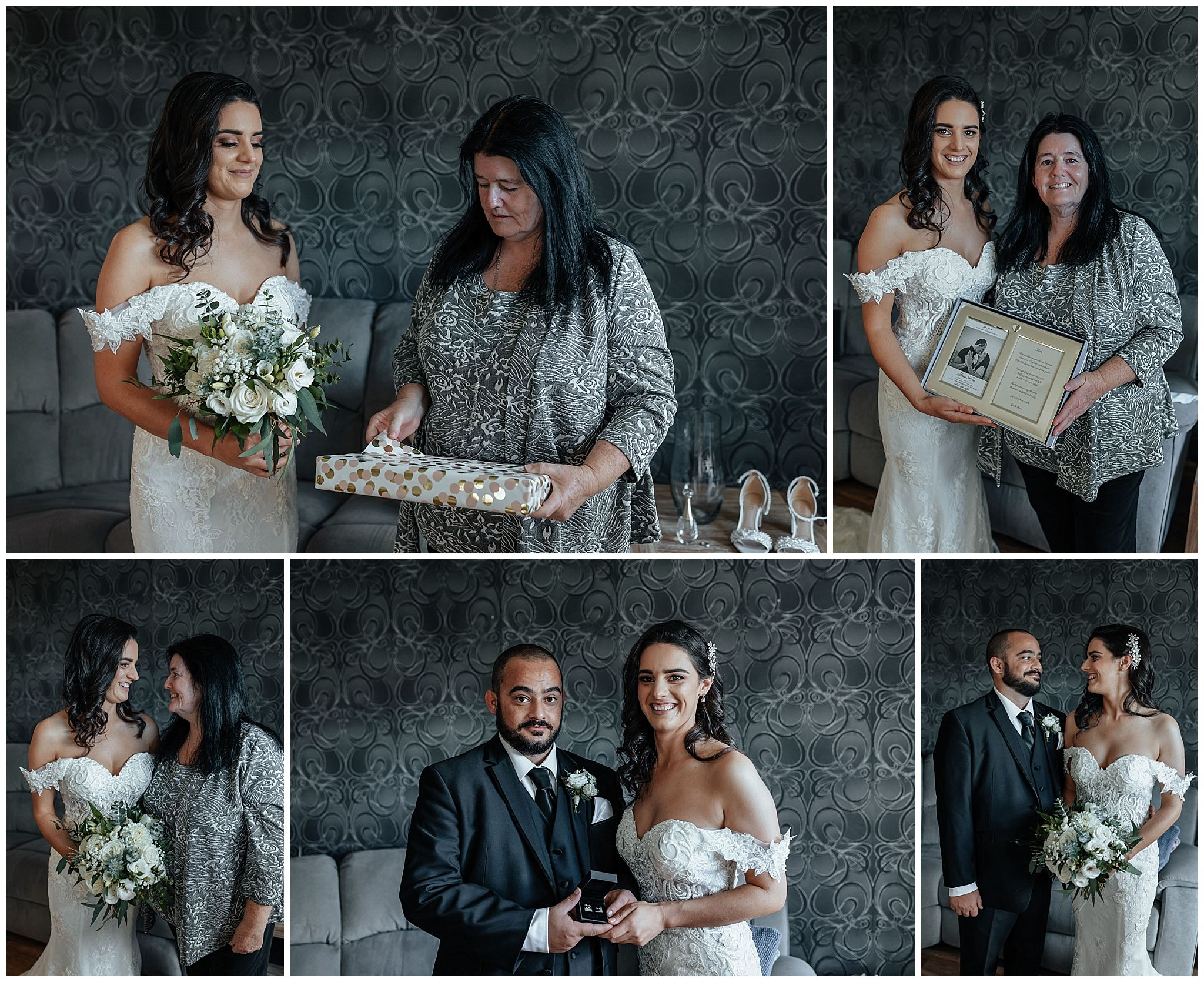 Brides Wedding day preparations