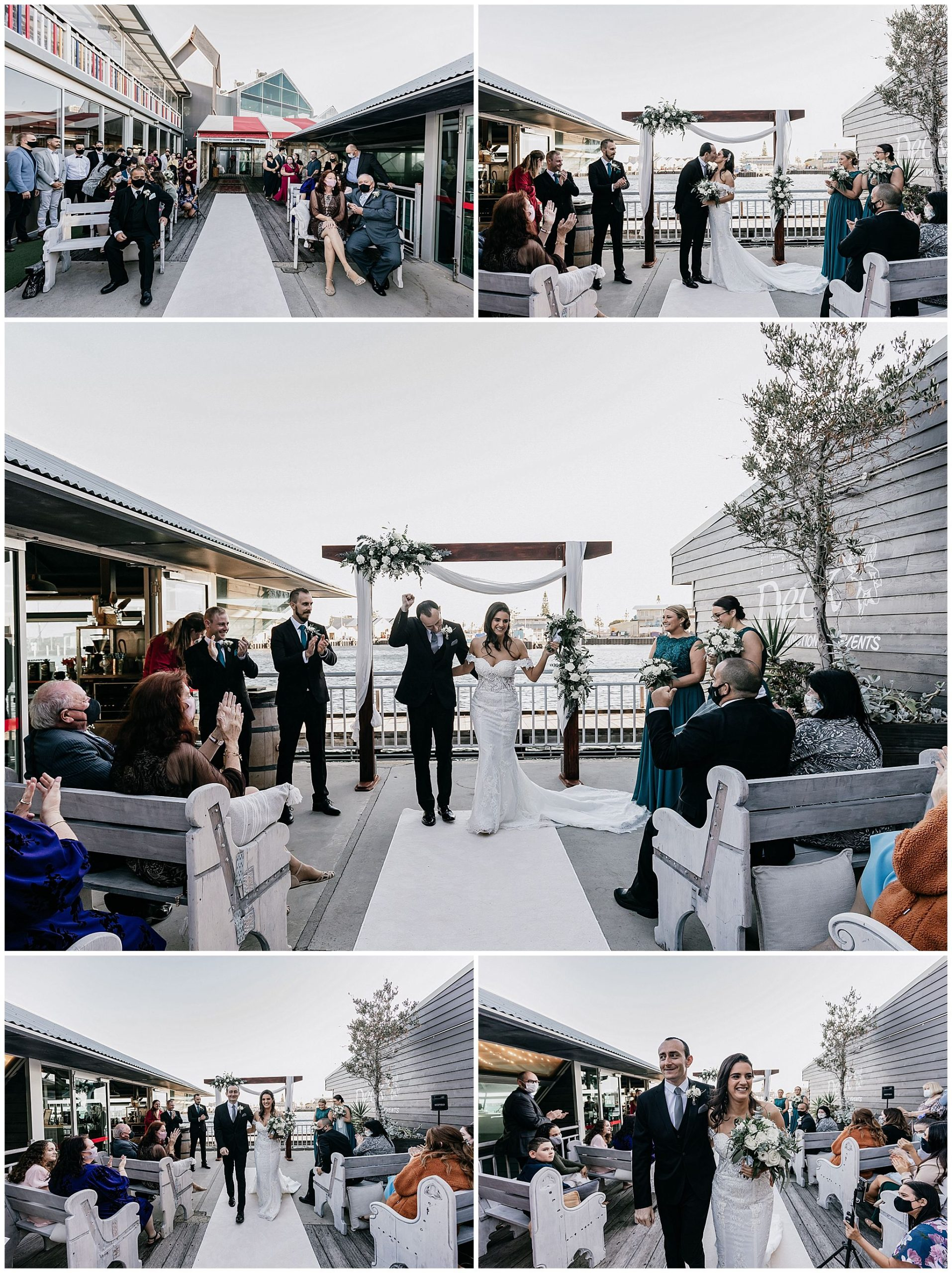 Wedding Ceremony On the Deck at Little Creatures Fremantle