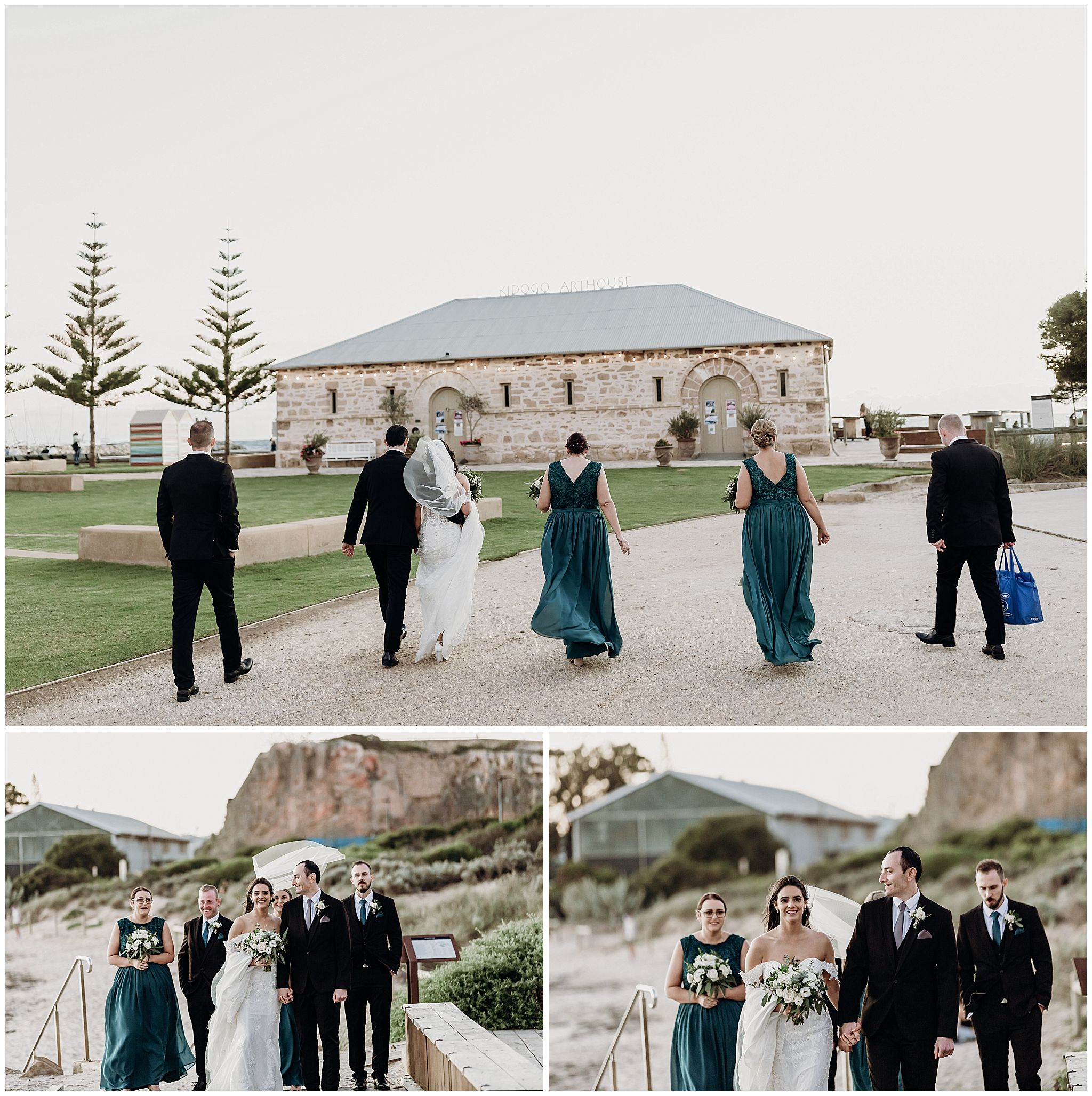 Bride and Groom on the Deck at Bathers Beach Fremantle